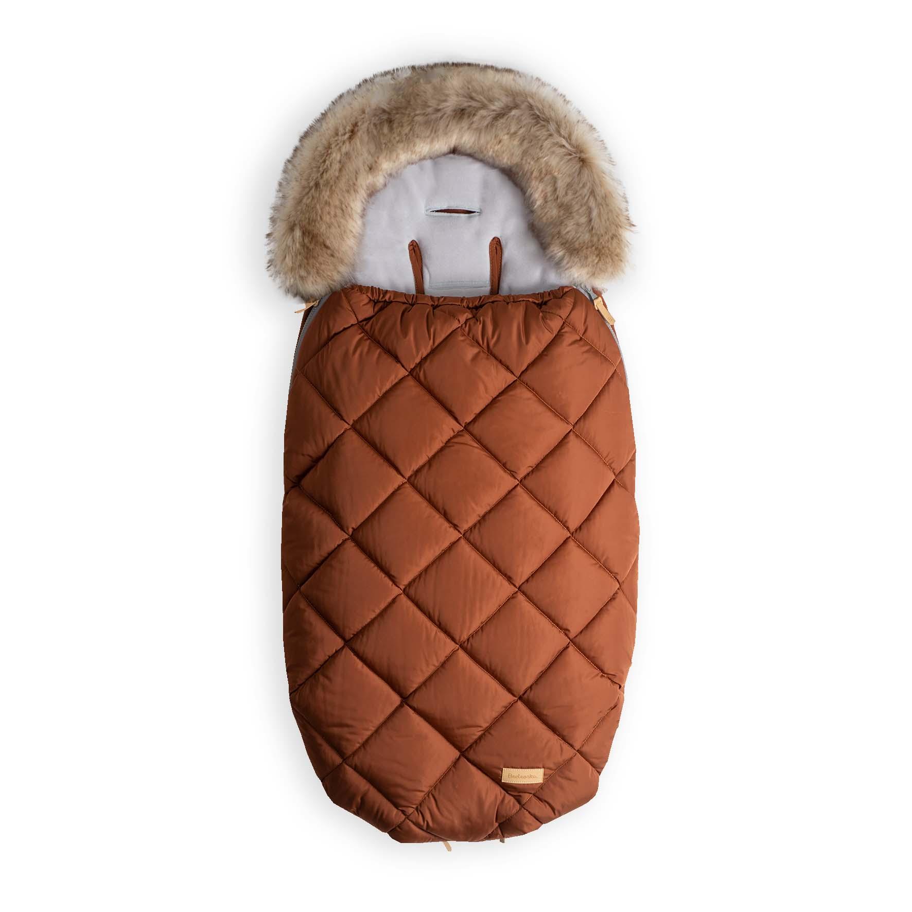 Beztroska fusak-kožešina 110 cm, cinnamon (5-36m)/L